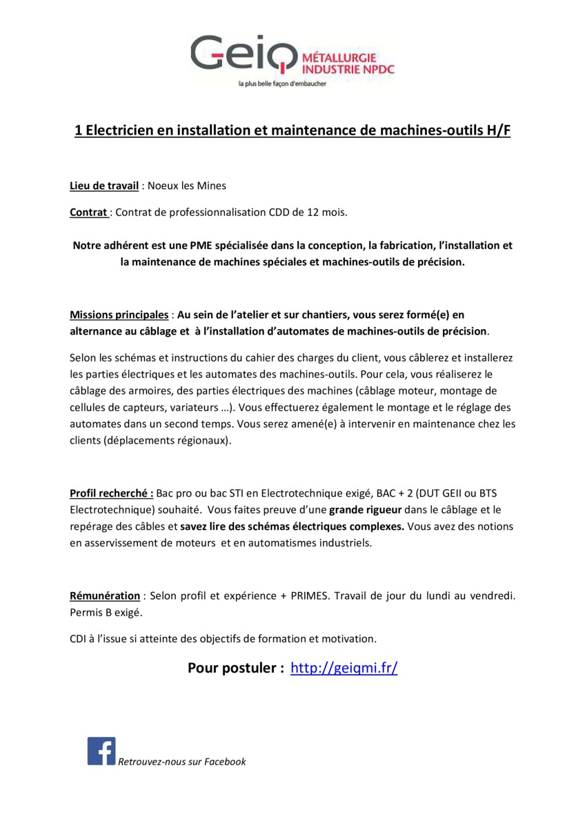 Ebook Lettre De Motivation Technicien De Maintenance Electrotechnique